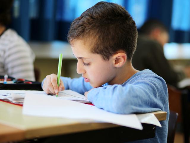 Kleiner Junge beim Lernen